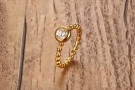 JT - Gold plated ring med CZ thumbnail