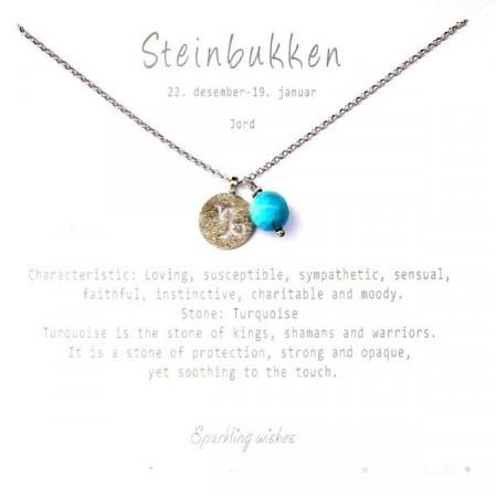 Stjernetegn smykke sølv